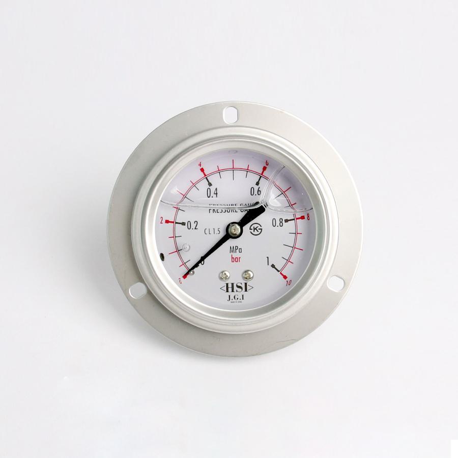 오일충만형 압력계 판넬피스형 10bar 2.5인치 1/4나사