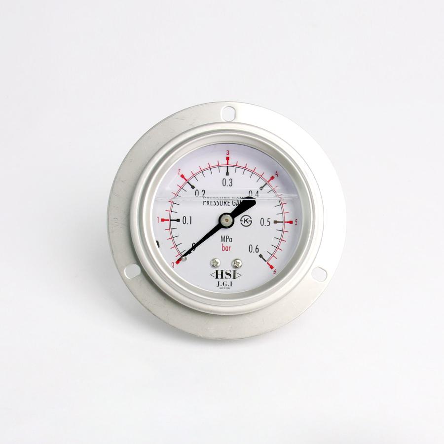 오일충만형 압력계 판넬피스형 6bar 2.5인치 1/4나사