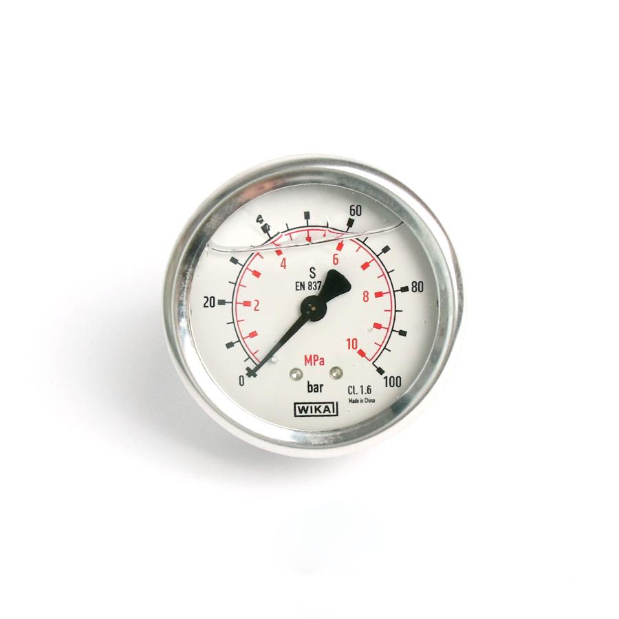 오일충만형 압력계 판넬형 100bar 2.5인치 1/4나사