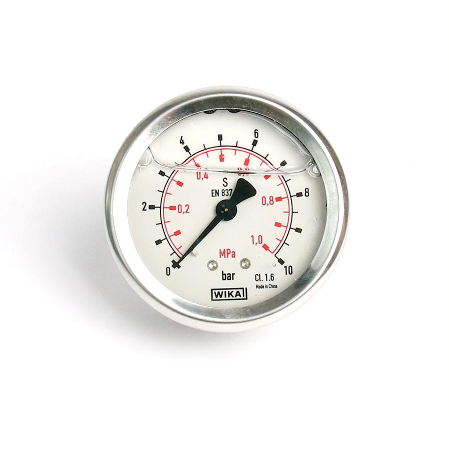 오일충만형 압력계 판넬형 10bar 2.5인치 1/4나사