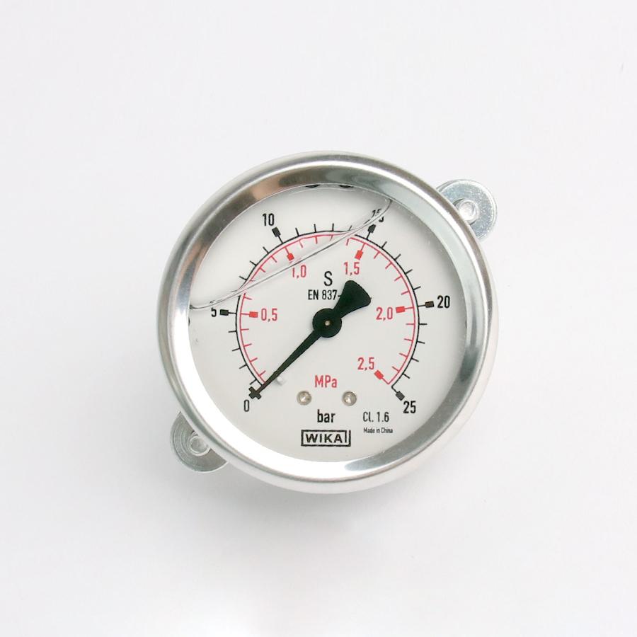 오일충만형 압력계 판넬형 25bar 2.5인치 1/4나사