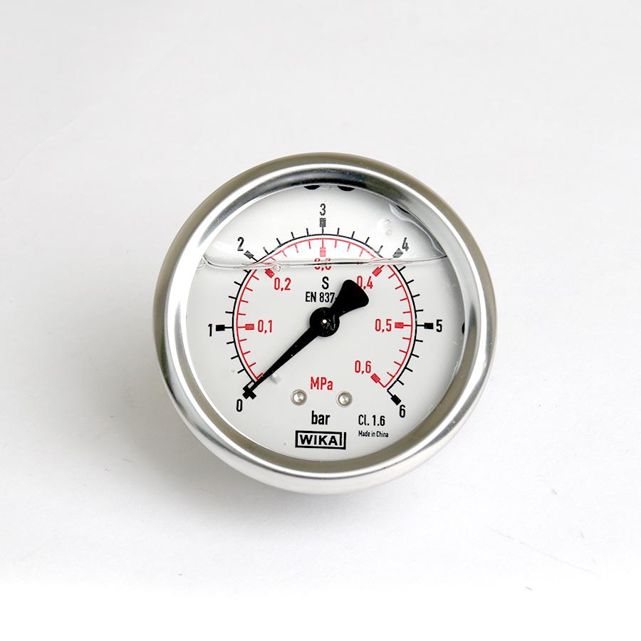 오일충만형 압력계 판넬식 6bar 2.5인치 1/4나사