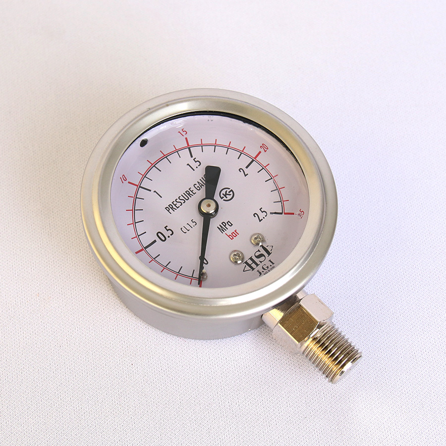 오일충만형 압력계 관로형 25bar 2.5인치 1/4나사