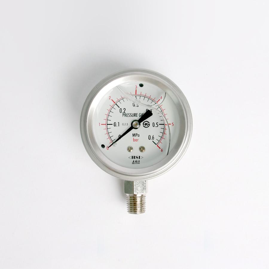 오일충만형 압력계 관로형 6bar 2.5인치 1/4나사