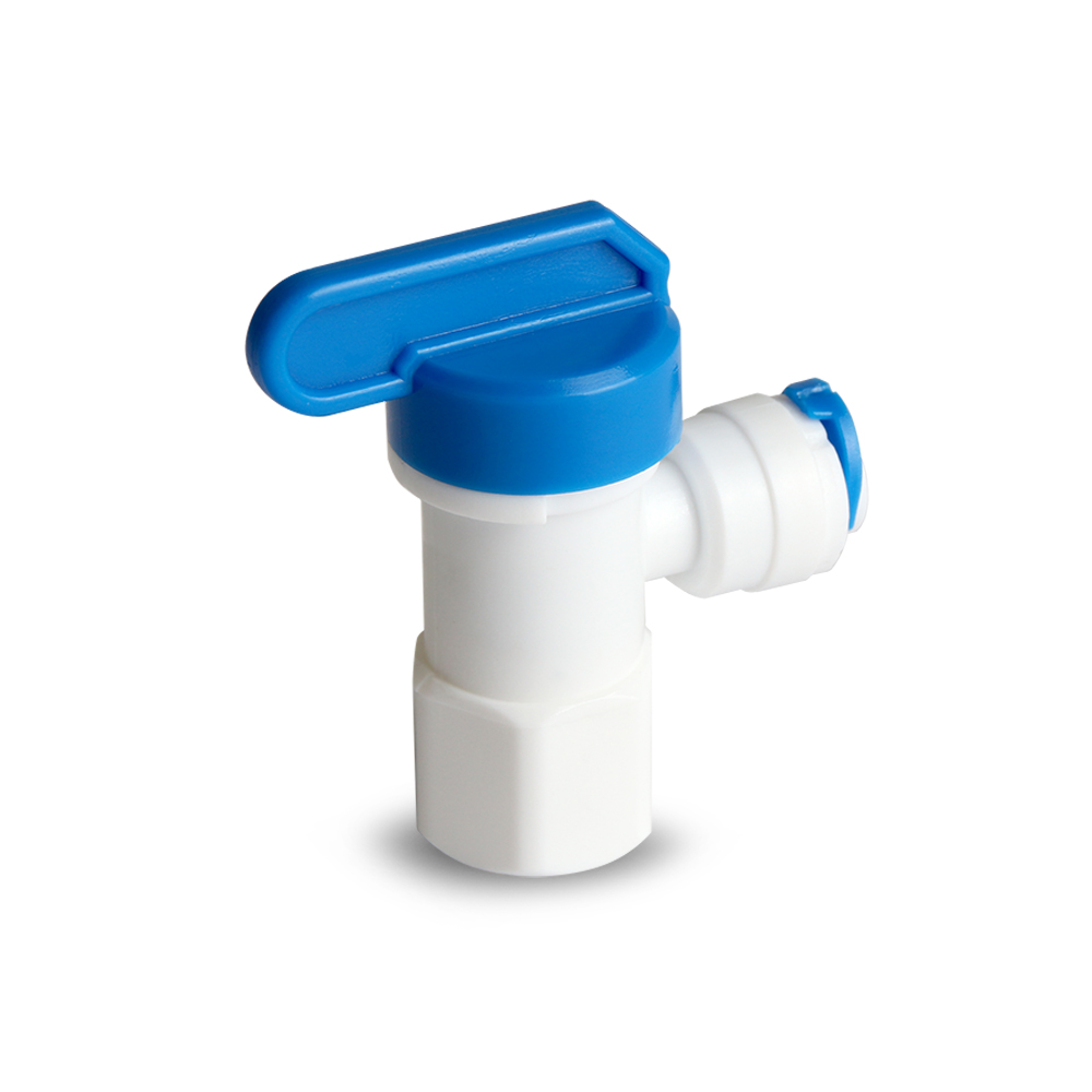 압력탱크 밸브 1/4 볼밸브 숫나사 엘보형