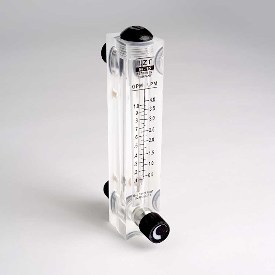 판넬밸브형 아크릴유량계 1GPM(분당 0.5-4L)