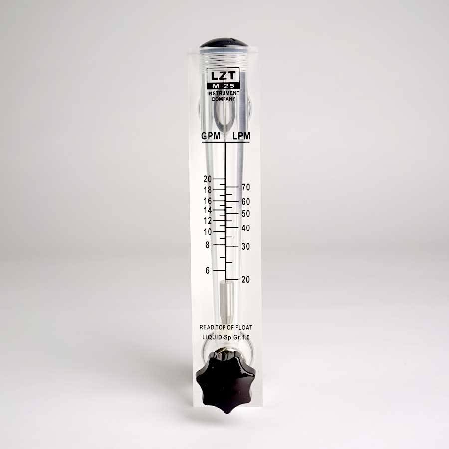 판넬밸브형 아크릴유량계 20GPM(분당 20-70L)