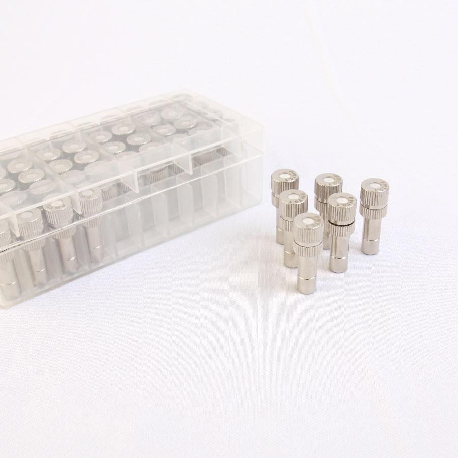 원터치 분사노즐 도금 1/4 [0.1mm] 1box 50개