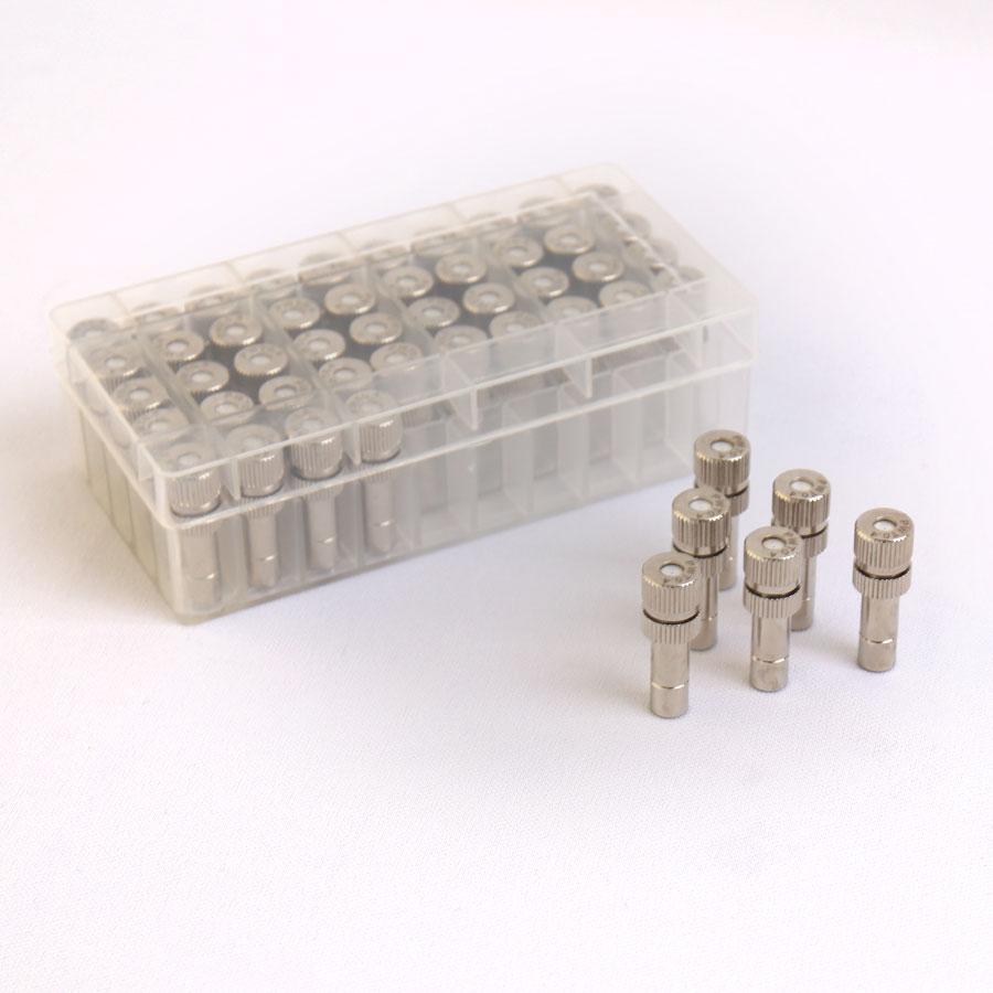 원터치 분사노즐 도금 1/4 [0.4mm] 1box 50개