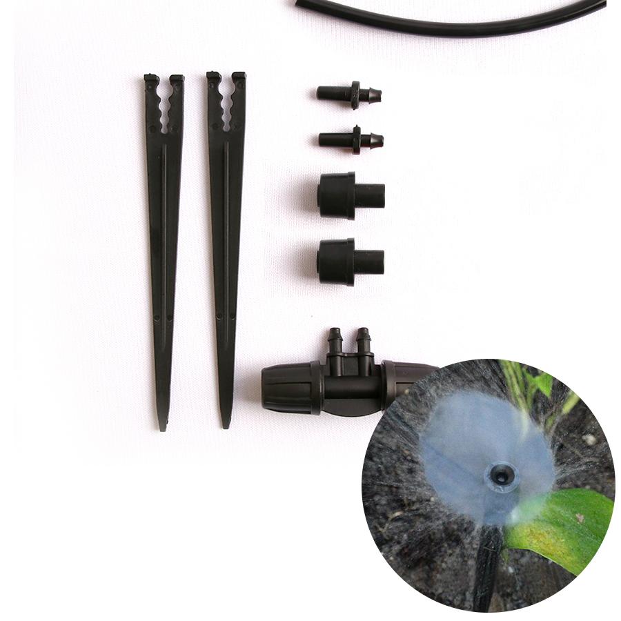정원용 기본연결 튜빙홀더 블랙노즐 2개 스프링쿨러