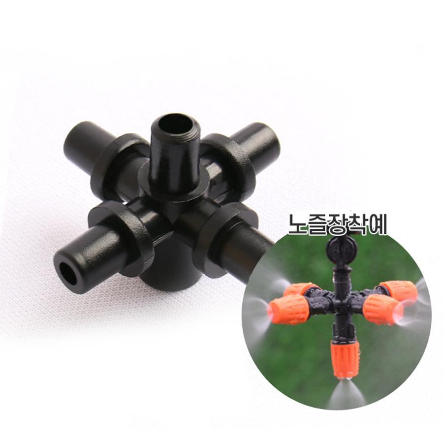 정원용 노즐커넥터 5구 [6mm]