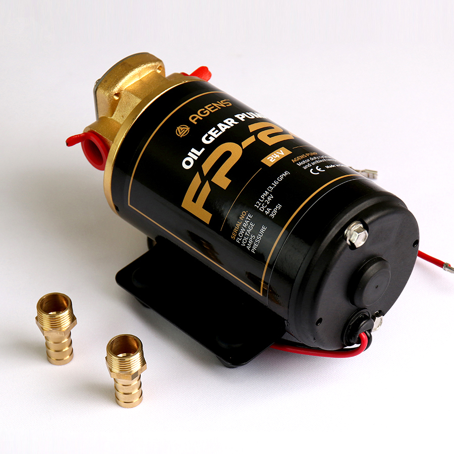 FP-24 오일기어펌프 24V 자흡 디젤 급유펌프 분당 12L
