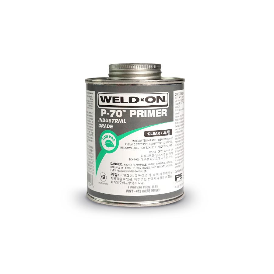 PVC 프라이머 WELD-ON P-70 사이즈 선택