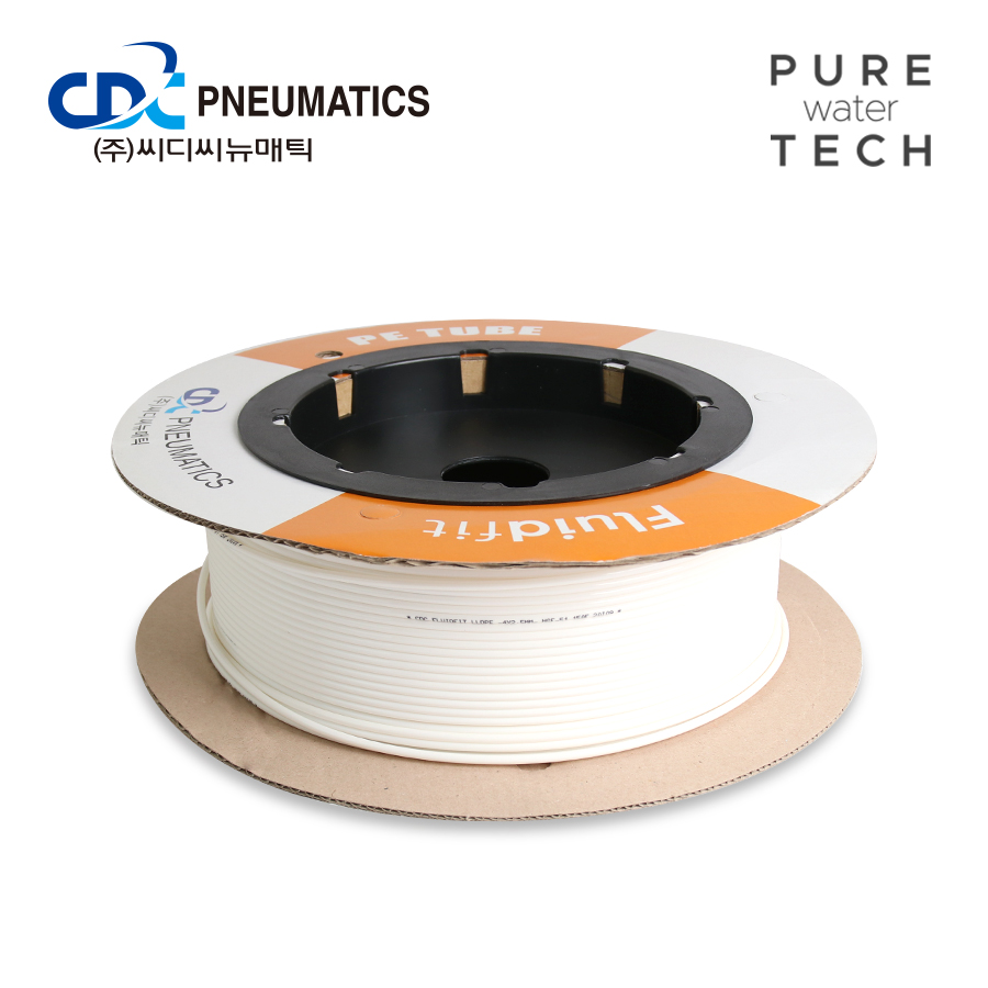 [CDC] PE 튜빙 1/2 1롤=100m 화이트 (PE 1/2)