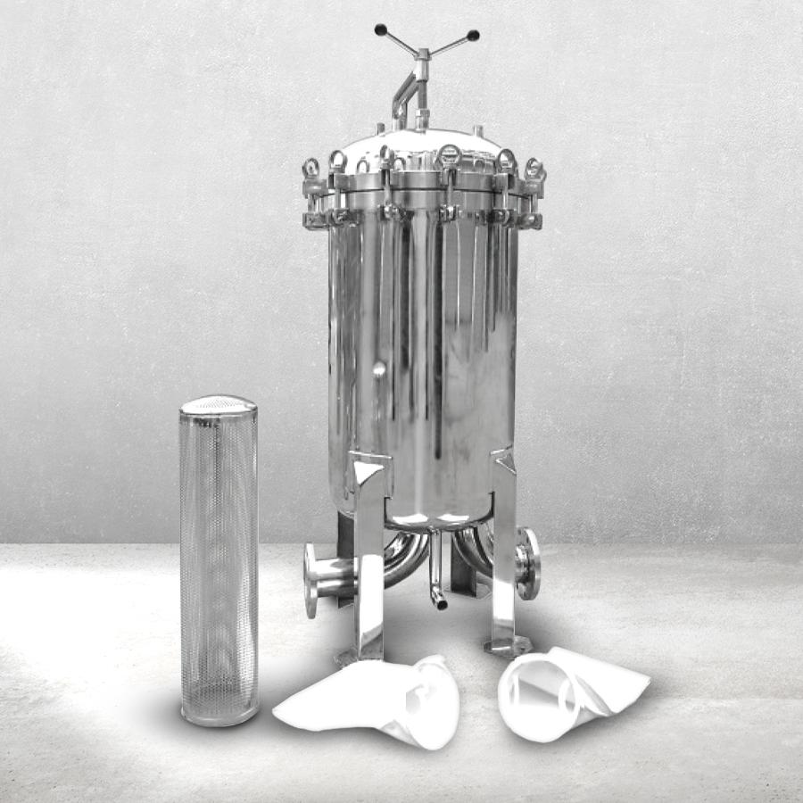[H] 이물질 여과장치 백필터형 SUS 3구 7x32 4인치 JIS 플랜지