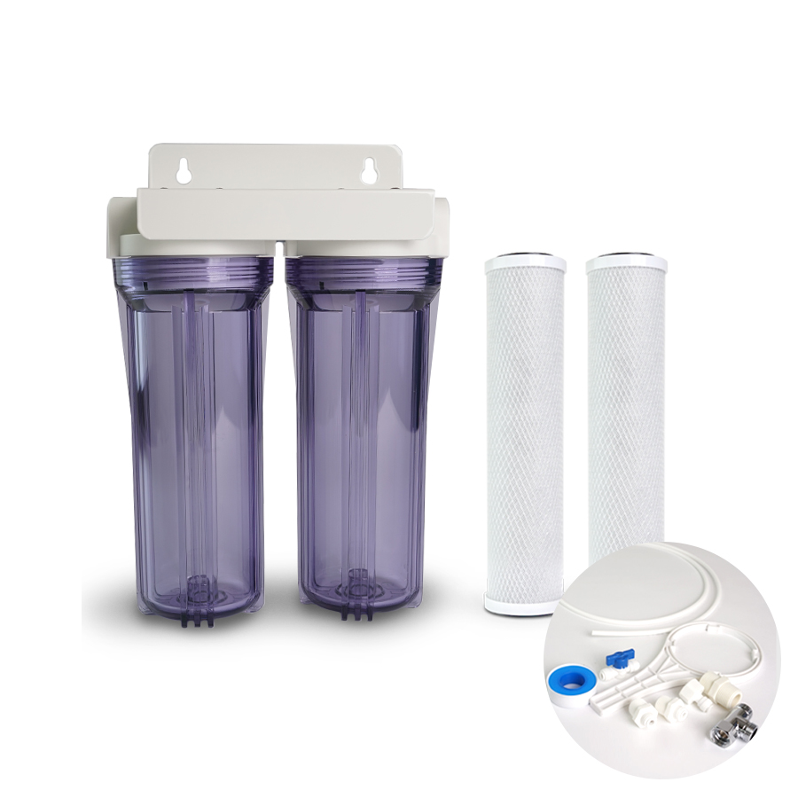 [H] 냄새제거 물맛개선  카본 정수기 10인치 2단 15A 1/4연결 DIY