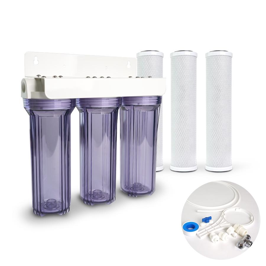 [H] 냄새제거 물맛개선  카본 정수기 10인치 3단 15A 1/4연결 DIY