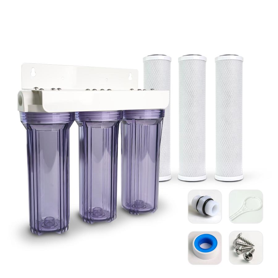 [H] 냄새제거 물맛개선  카본 정수기 10인치 3단 15A 니플형 DIY